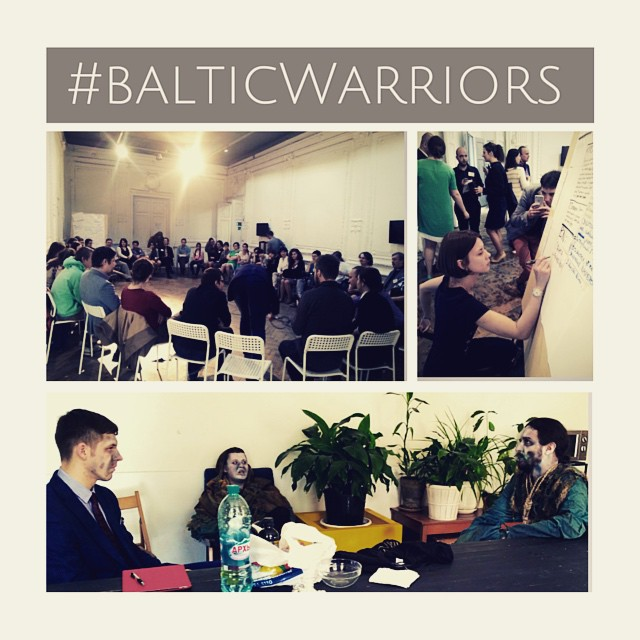 The game is over and it's time for the panel! #balticwarriors