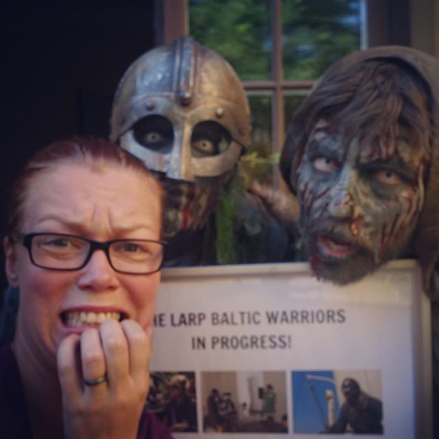 Our local producer looks a bit scared today.... #östersjön #balticwarriors #nordiclarpforsocialchange