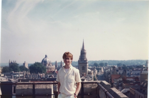 Tim Robson in Oxford 1985 - neo Marxism not pictured.