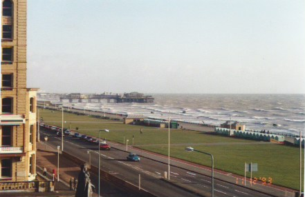 Hove Lawns and the (near) complete West Pier December 1993 from my balcony.