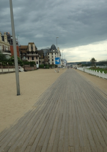 Dark and cloudy. Trouville today.