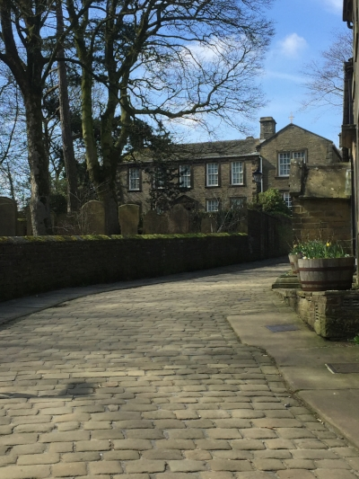 Bronte Parsonage, Haworth, basking in the April sun