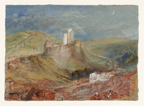 Turner's painting of the Norman Castle LIllebonne 1832 shows the hollow beneath where the Roman Theatre would later be excravated.