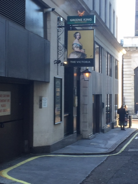 The Victoria - hiding off Buckingham Palace Road