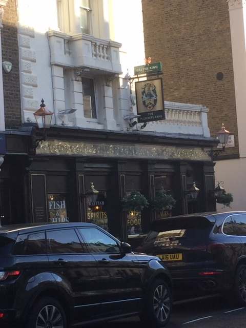 The Plumbers Arms, Lower Belgrave Street. Lord Lucan not pictured.