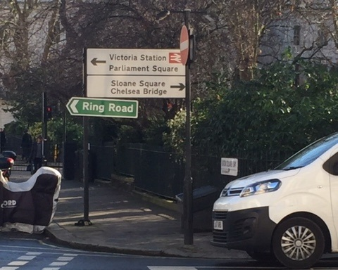 Road sign Eaton Square