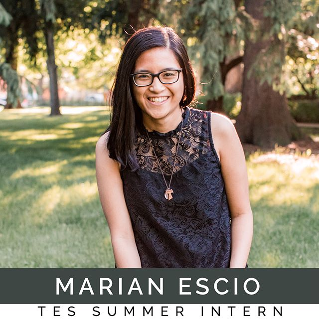 """Meet Marian Escio, another one of our #TES40wk summer interns! She just graduated from Grand Canyon University in Phoenix, Arizona with a biology degree. She has been enjoying her time in the #hubofawesome and """"is looking forward to bridging the gap between denominations."""" @marz_barz123 hopes to one day become a missionary doctor in third world countries! #peopleandsongs #TEScamp #hubofawesome"""