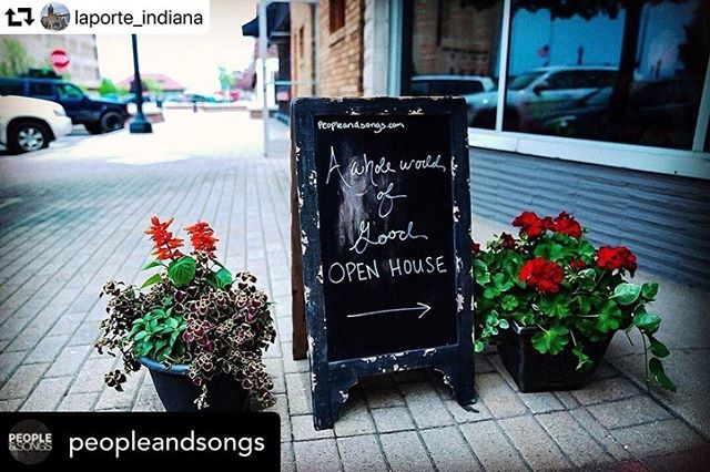 """Near #LaPorte? Check out our new store, A Whole World of Good! We've got heaps of missional merchandise that pours back into ministries around the world! • Posted • @peopleandsongs Goodness!! We so love this sweet little city of ours and most grateful to call it home! Y'all come experience #awholeworldofgood here at the #hubofawesome in @laporte_indiana aka """"the door"""" #repost @laporte_indiana ・・・ A new shop opened up downtown at 605 Michigan Avenue! The @peopleandsongs """"A Whole World Of Good"""" store is filled with incredible one of a kind creations (aka 'Missionary Merch') such as jewelry, apparel, bags, candles & more from countries around the globe. They actively support an array of missionary organizations that exist to deliver individuals and communities out of poverty and social/human rights injustices. Each purchase from this store is literally helping to save lives and raise communities. You can help yourself to a cup of coffee, have a heart to heart with a friend and listen to live music at the New Song Cafe area in the back! They are open seasonally, for open houses, by appointment and for private parties.  SUMMER Shop hours: 10am - 6pm M - Sat (May 27- Aug 3)"""