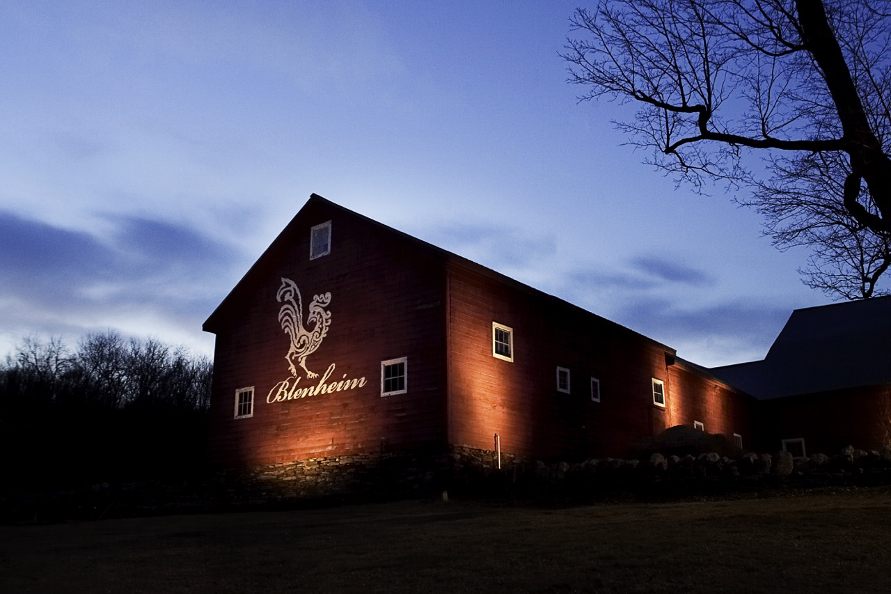 The farm features stunning exterior and interior lighting.