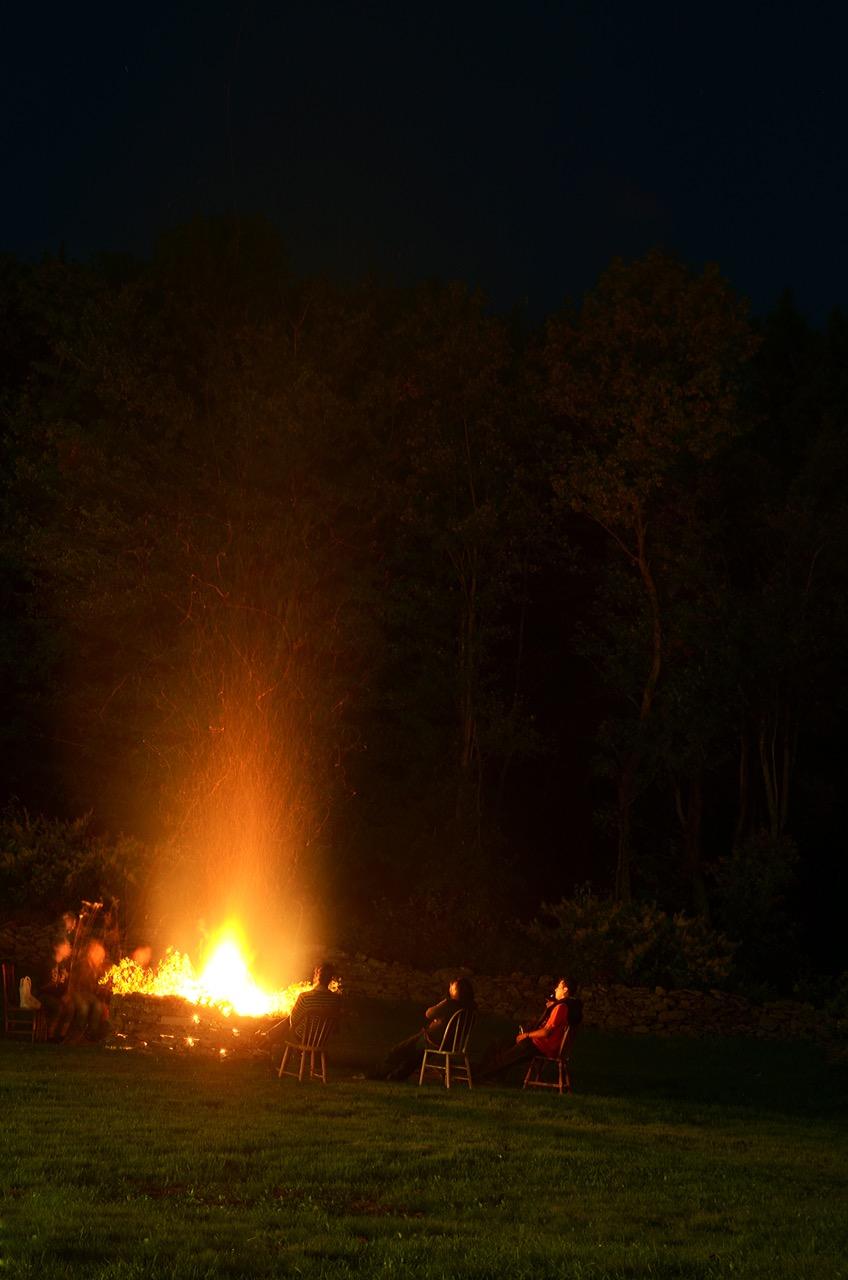 Bonfire at night.