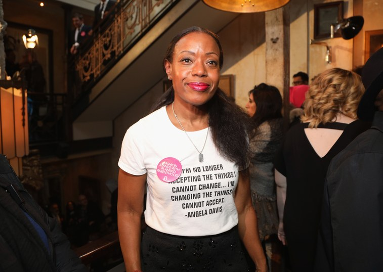 Tracey Reese in a tee shirt with Angela Davis quote. Image: Anna Webber