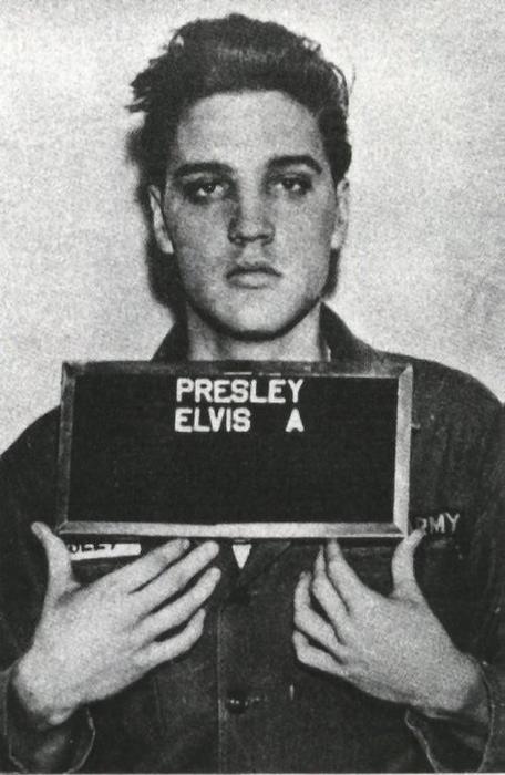 Elvis in jean jacket and jeans, 1956. Image:  rockabillythekid.tumblr.com