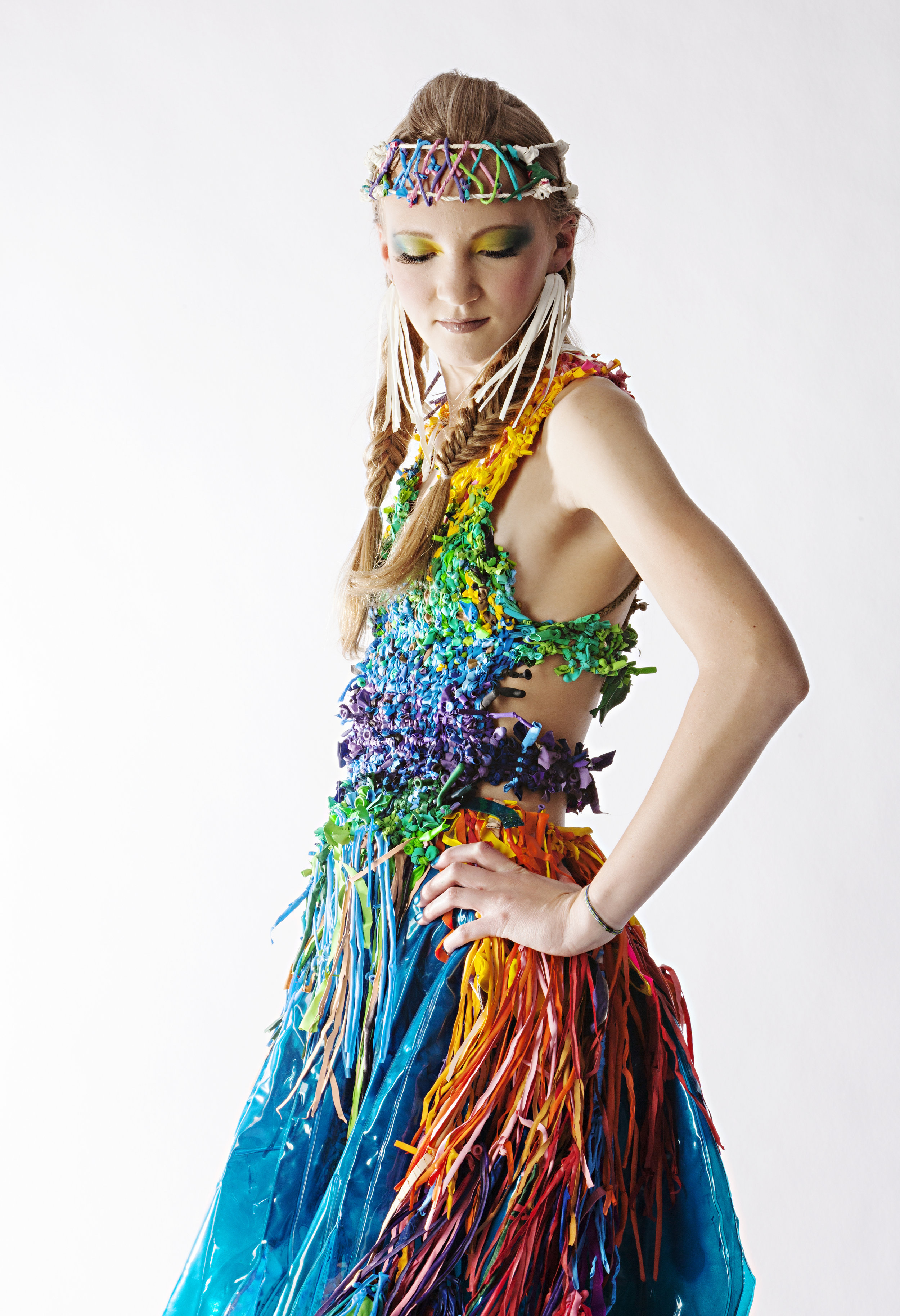 RR08 design featuring popped balloon bodice and fringe; image:  Inga Pae .
