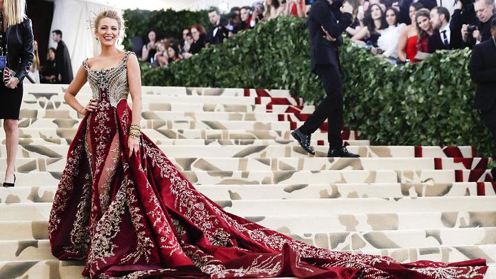Blake Lively attends the 2018 Met Gala. Image via CNBC.