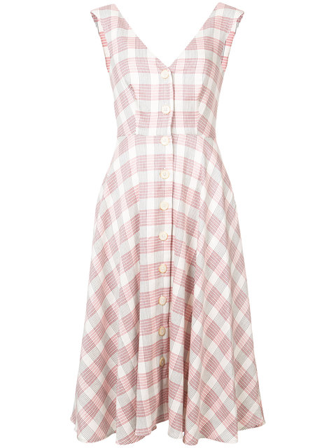 Plaid dress by  Veronica Beard .