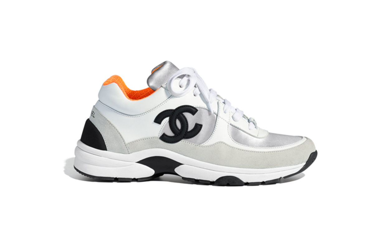 Chanel 's take on the Dad Shoe trend; image via Sole Supplier.