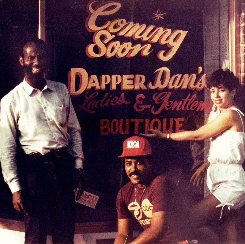Dapper Dan's Boutique just prior to opening in 1982; image via GQ.