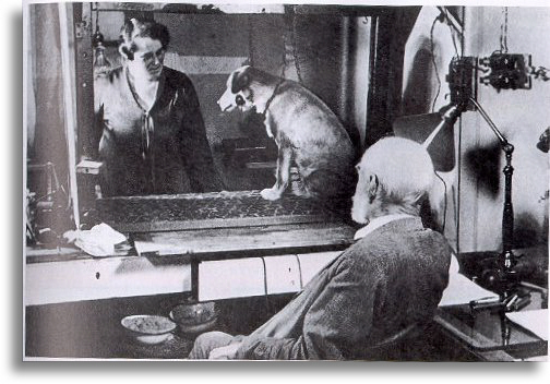 Pavlov in his lab; image via appstate.edu
