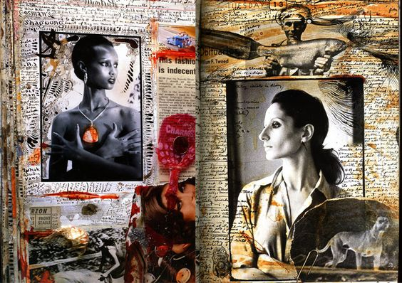 Pages from one of Peter Beard's Field Notebooks, via Pinterest.