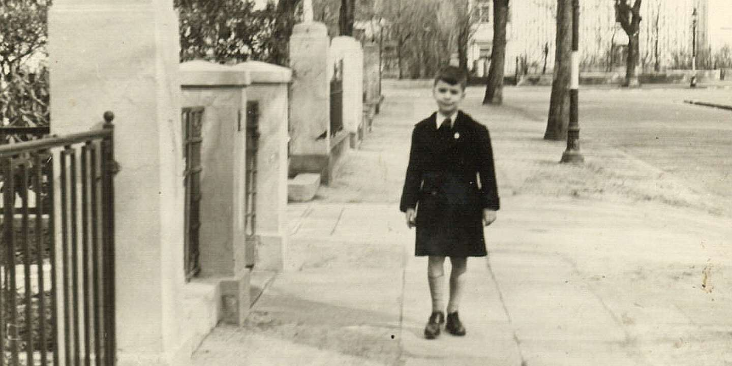 Karl Lagerfeldt as a child in Germany; image via Vogue.