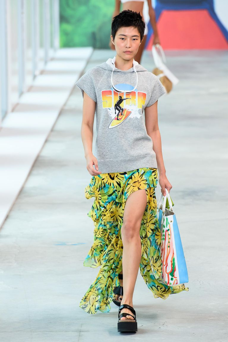 Surfer Girl Chic at Michael Kors; image via Harper's Bazaar.