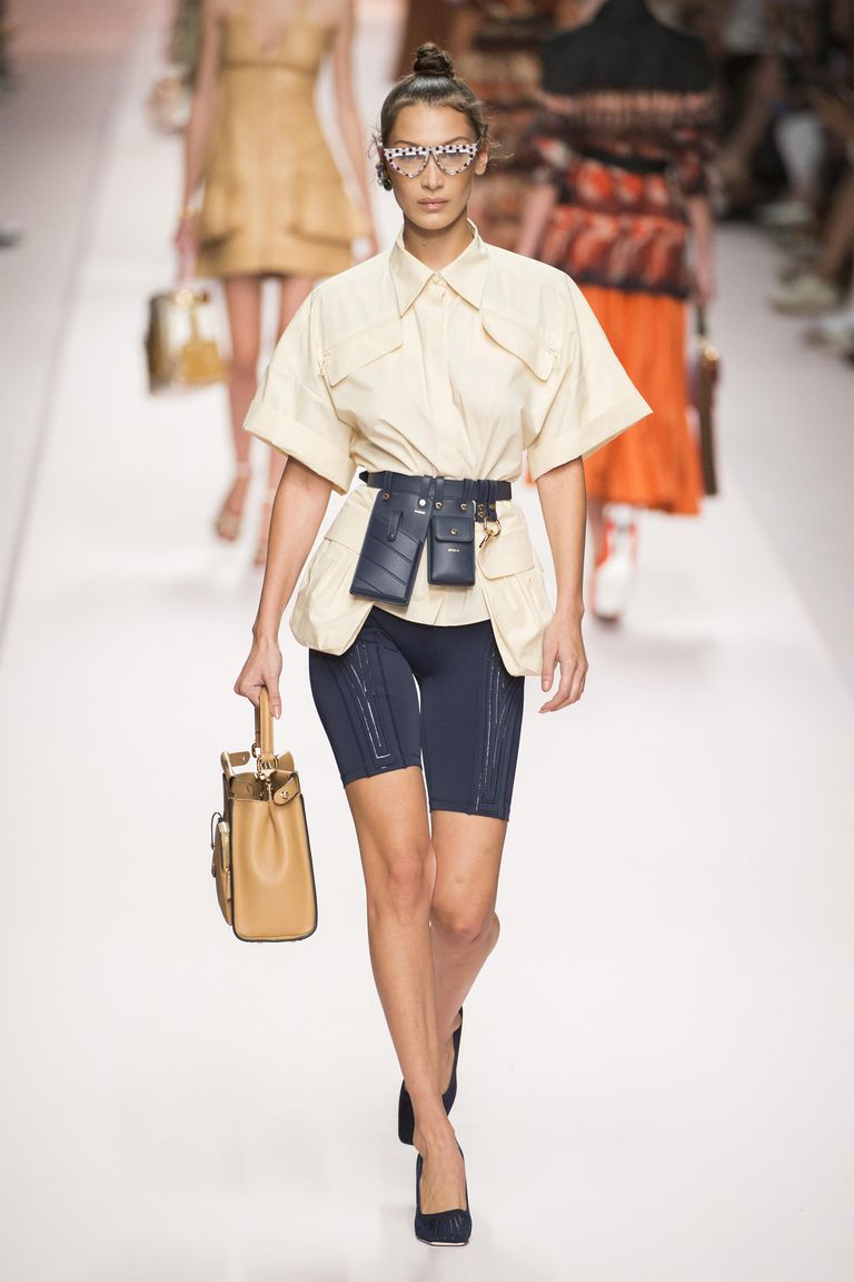 Bike shorts at Fendi; image via Harper's Bazaar.