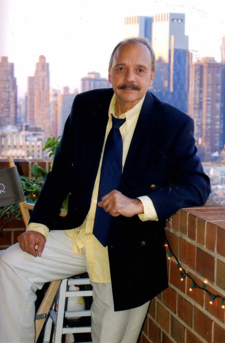 Iván Acosta on his balcony in Hell's Kitchen.