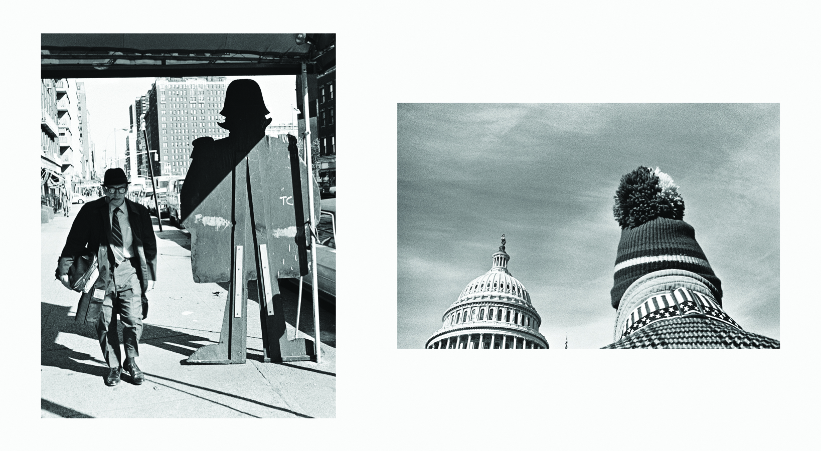 Cutout Man, New York, 1971 and U.S. Capitol, Washington D.C., 1977 (Copyright Mark Chester) from the book  Twosomes , Un-Gyve Press. (PRNewsFoto/Un-Gyve Limited) ( PRNewsFoto/UN-GYVE LIMITED )