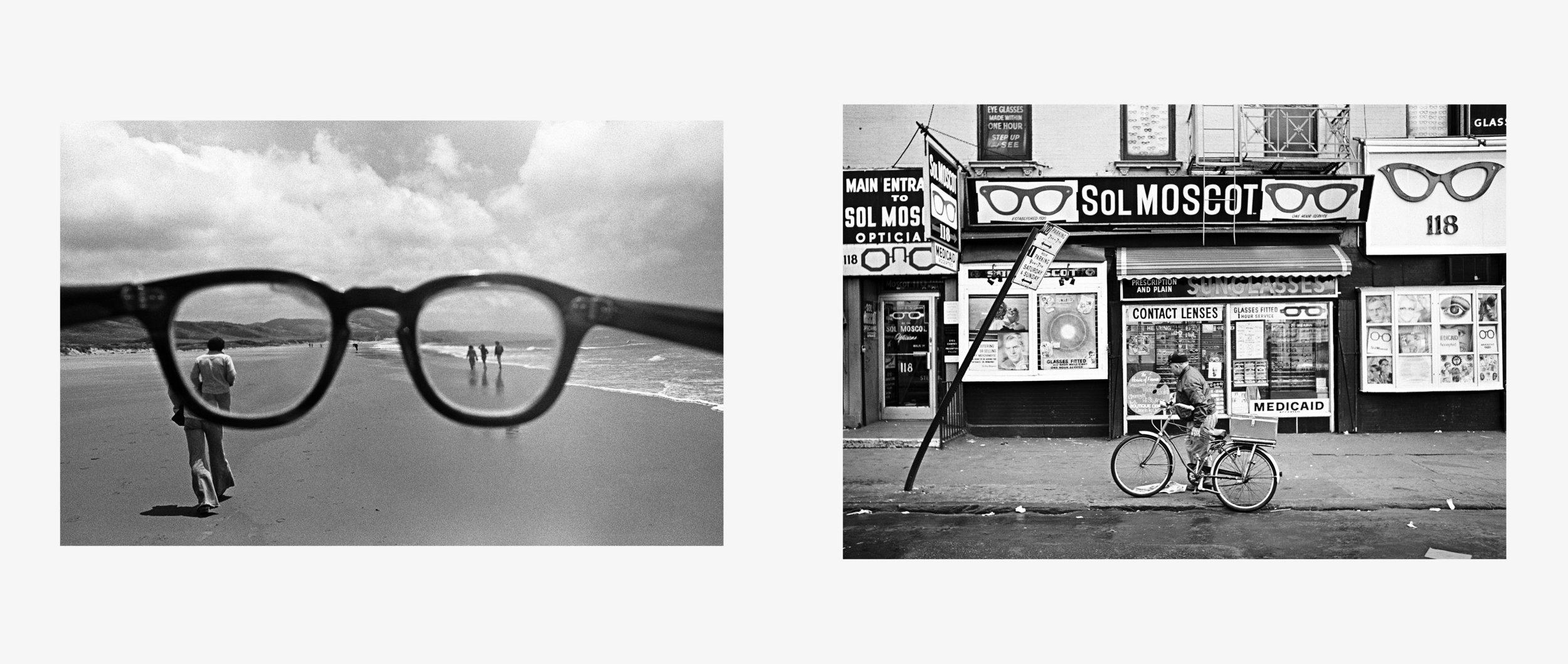 Eyeglasses, California, 1978 | Sol Moscot Optician, New York, 1970 Copyright © Mark Chester from the book  Twosomes  (Un-Gyve Press, Boston). ( PRNewsFoto/Un-Gyve Press )