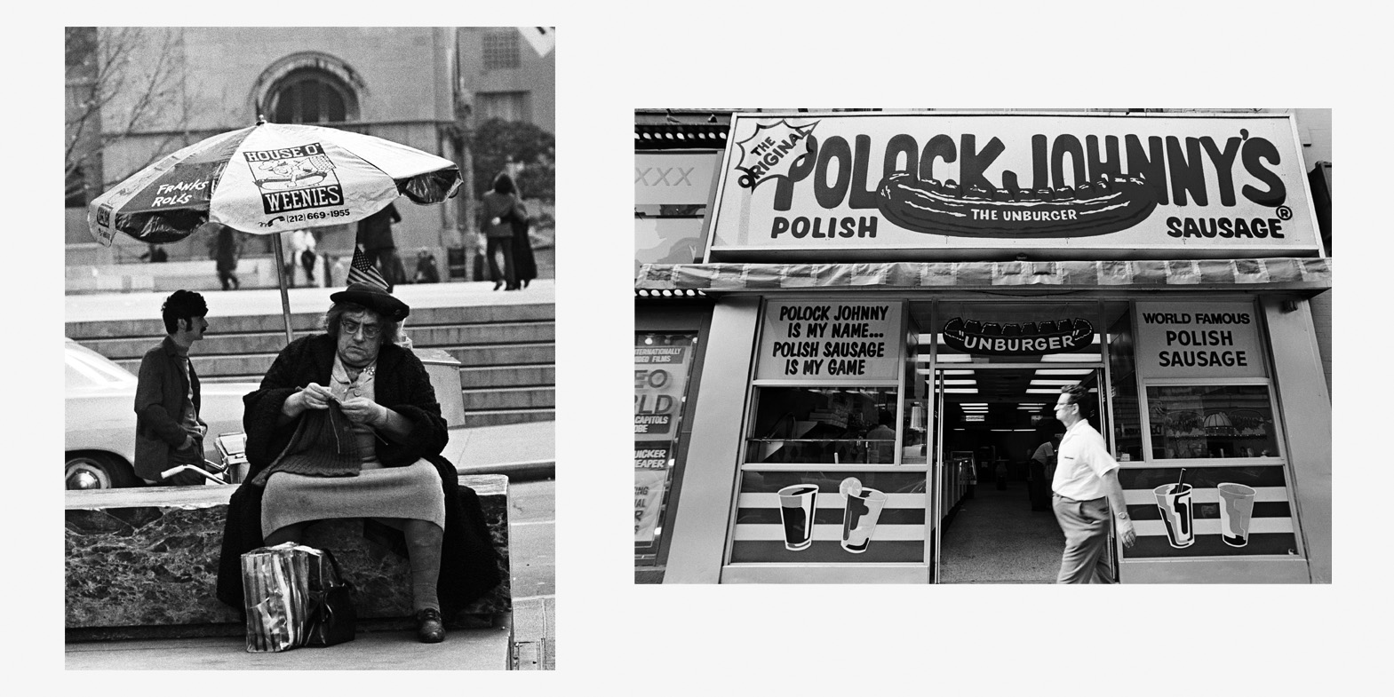 House of Weenies New York 1980 | Polock Johnny's Maryland 1981 Copyright © Mark Chester from the book  Twosomes  (Un-Gyve Press, Boston). ( PRNewsFoto/Un-Gyve Press )