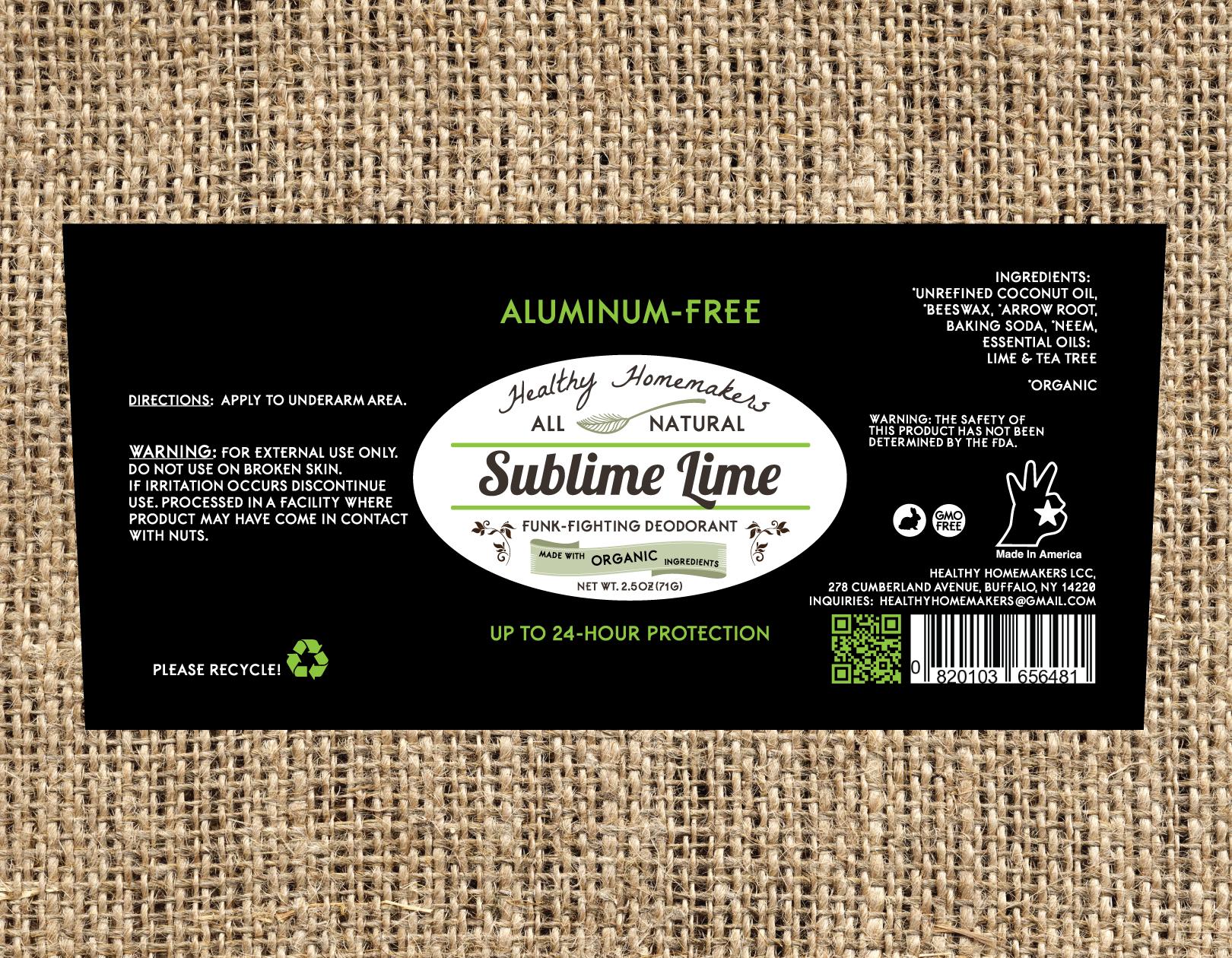 Sublime Lime - Aluminum Free Deodorant