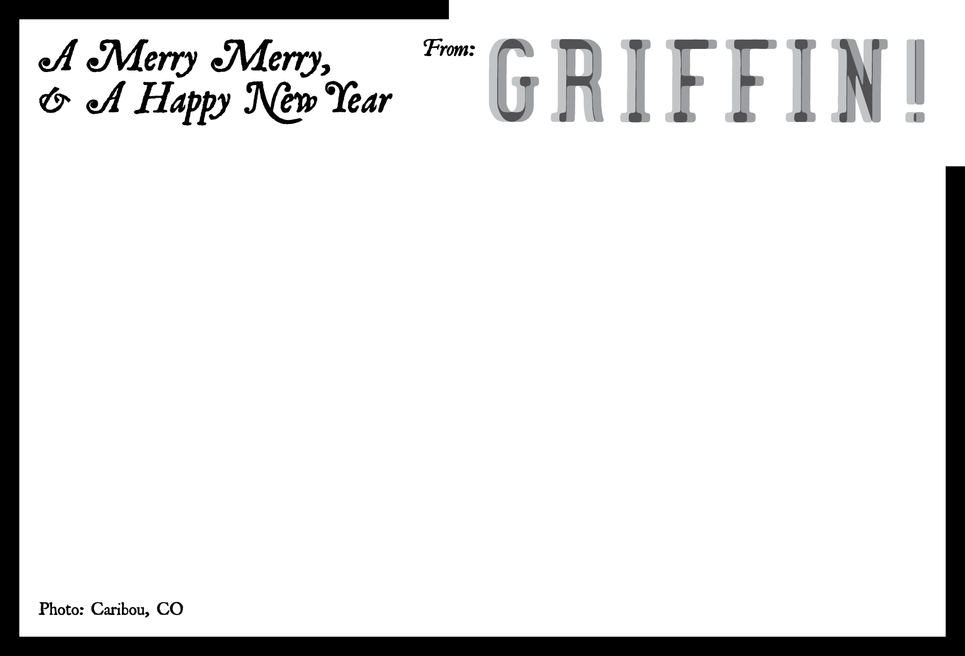 GRIFFIN! 2014 Holiday Card - Back