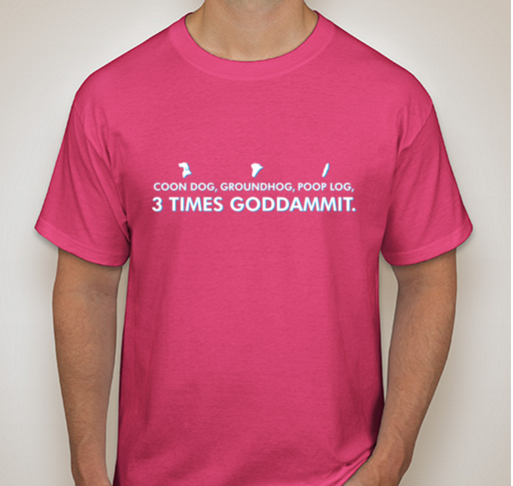 As Shown on a Hanes Tagless Tee