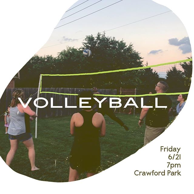 Happy Monday!  Here's another hangout just for you & your friends!  Friday Volleyball 🏐  6/21 7pm Ages 18-30 Crawford Park  Things you might want bring: bug spray, sunblock, lawn chair, & water! #summerhangs #cothya #community #douevenspikebro #weplaytowin