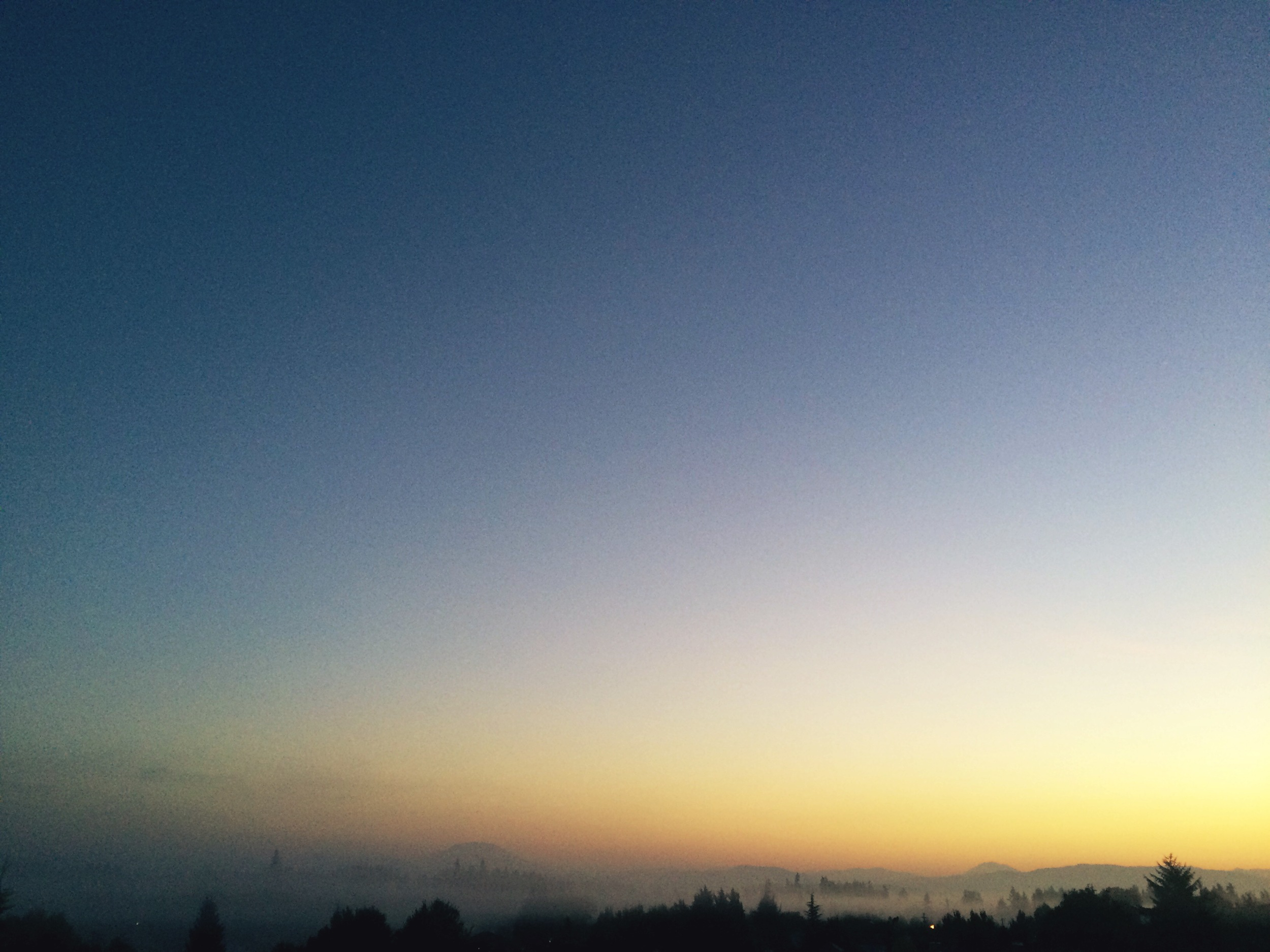 One of my favorite views in Vancouver, WA (Early morning/fog for miles from my parents' balcony)
