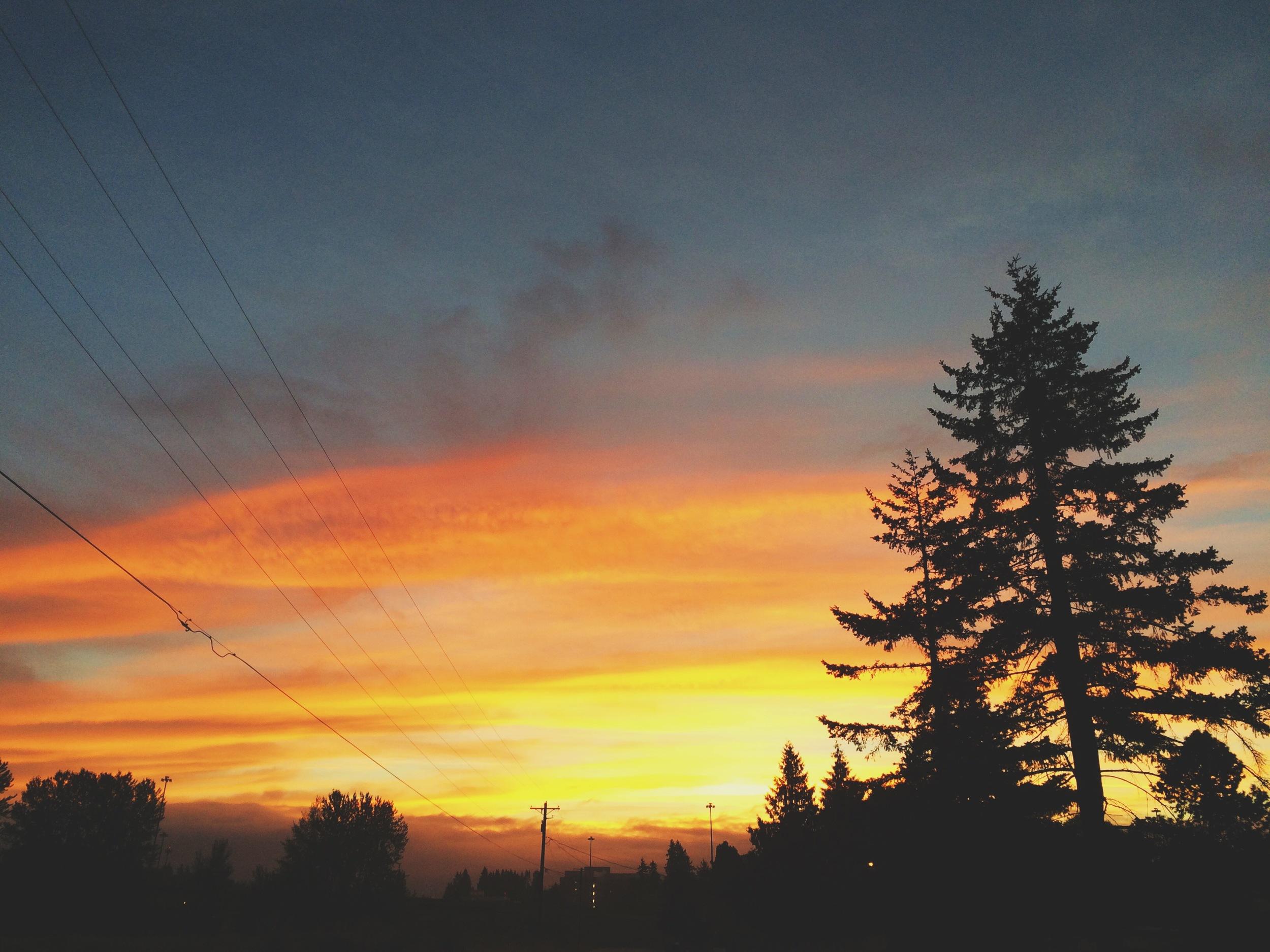 Again, another crazy sunrise in Salmon Creek, WA