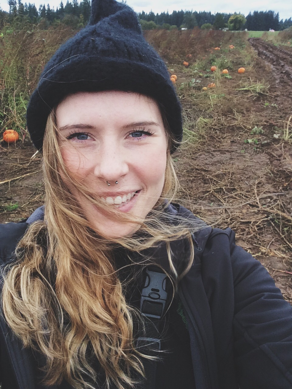 Pumpkin patch selfie