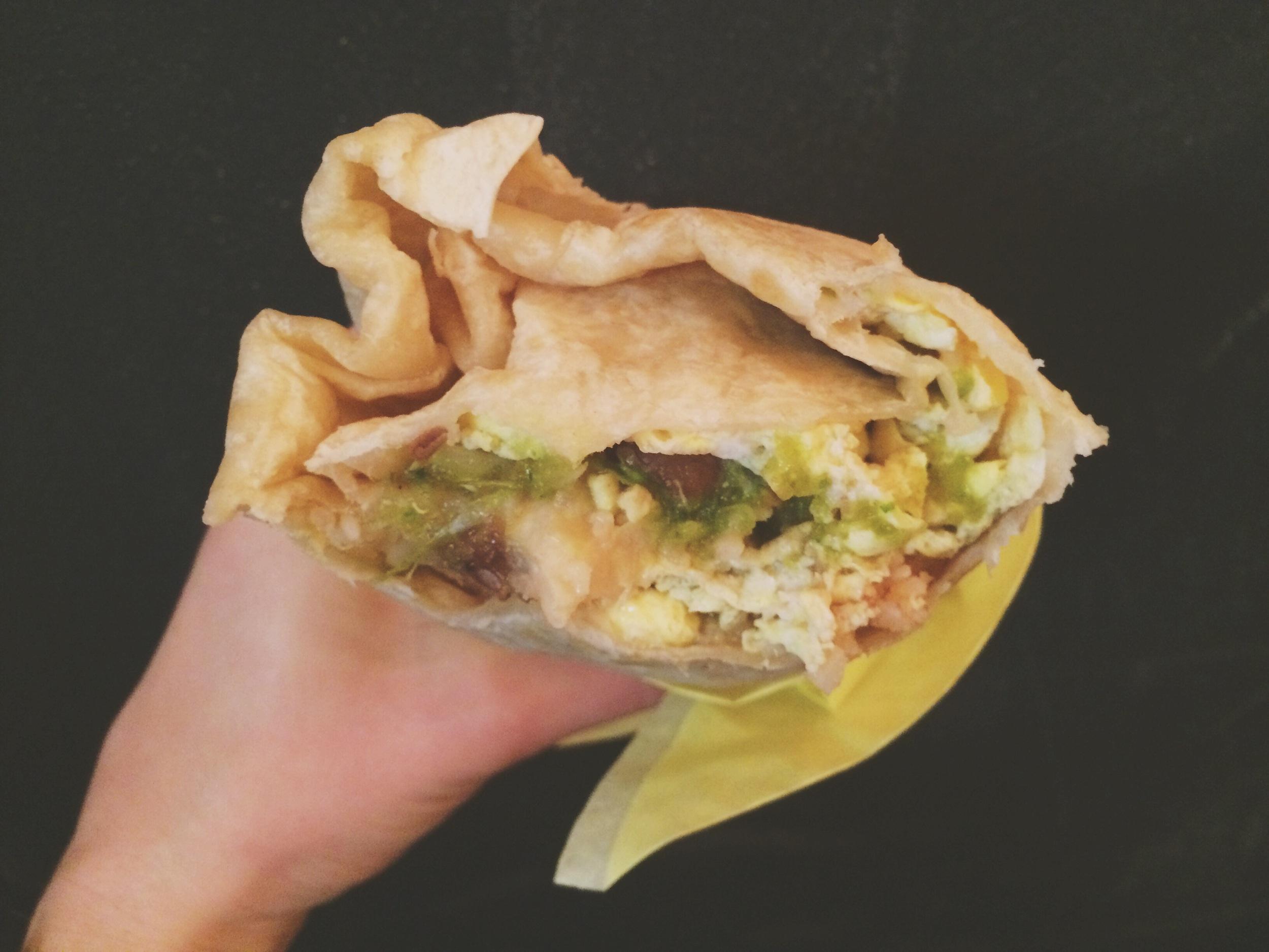 My breakfast burrito from La Jorochita food truck