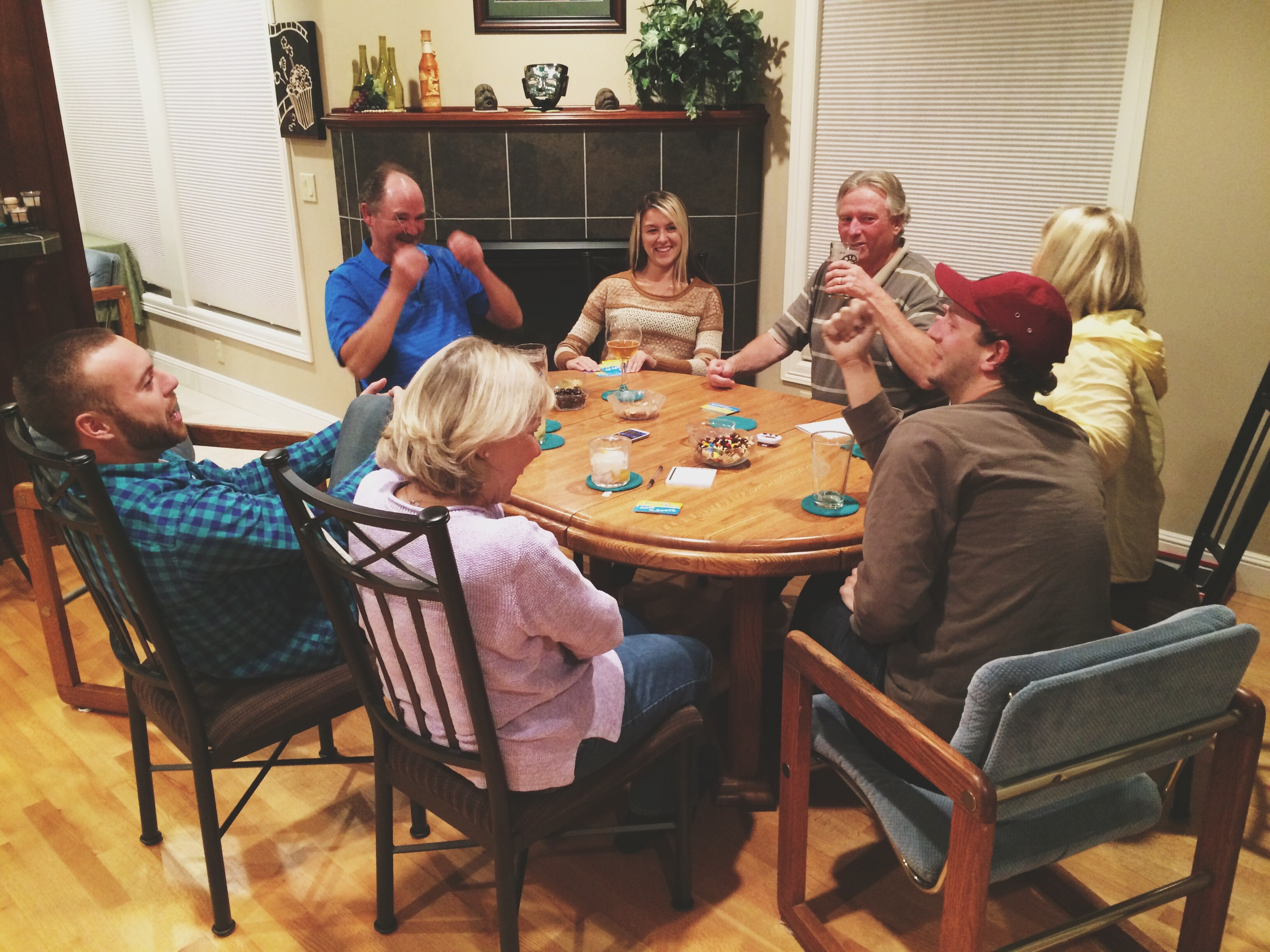 Game night with the parents