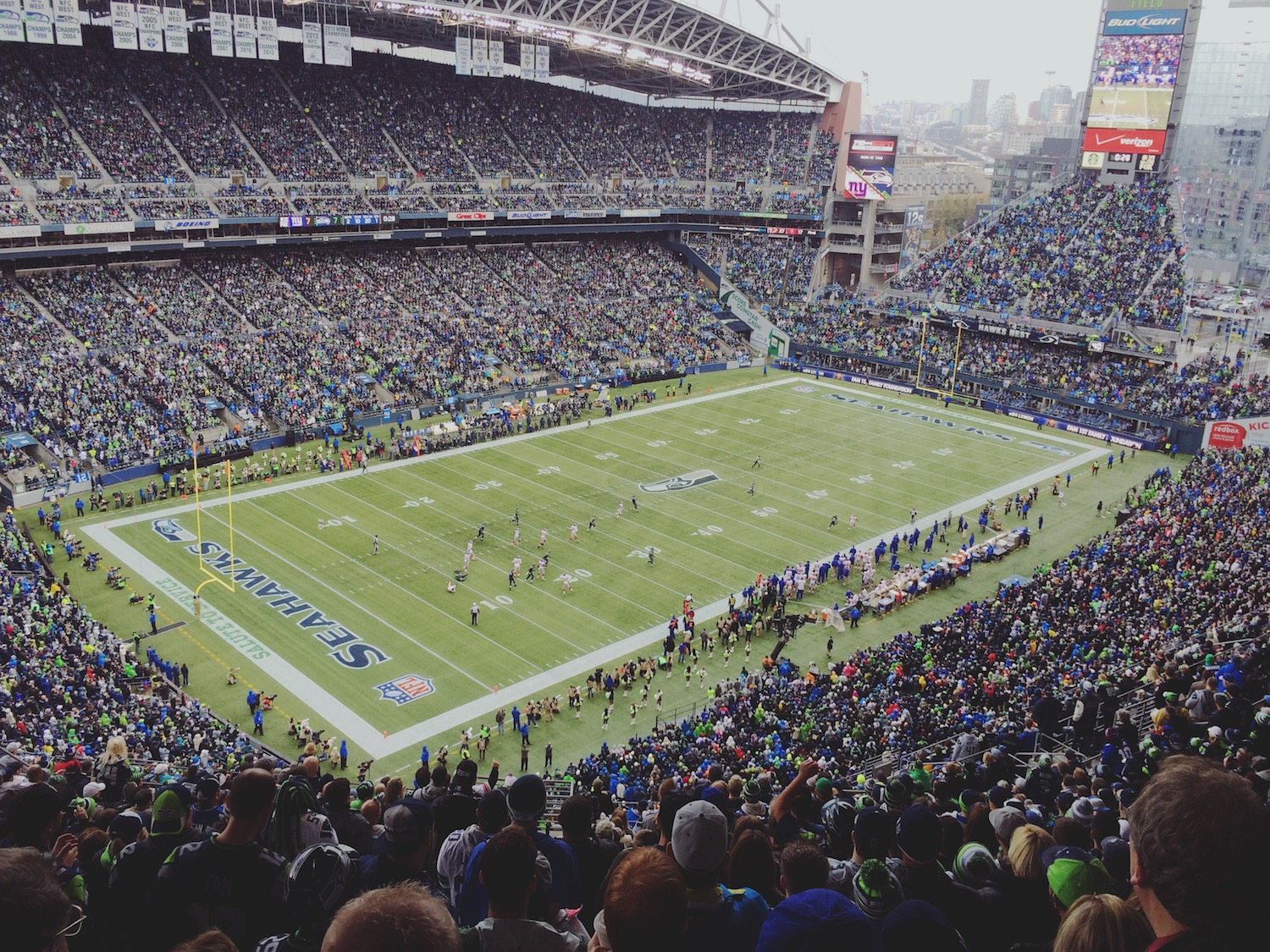 My first Seahawks game! I can't recall ever screaming that loudly in my life.