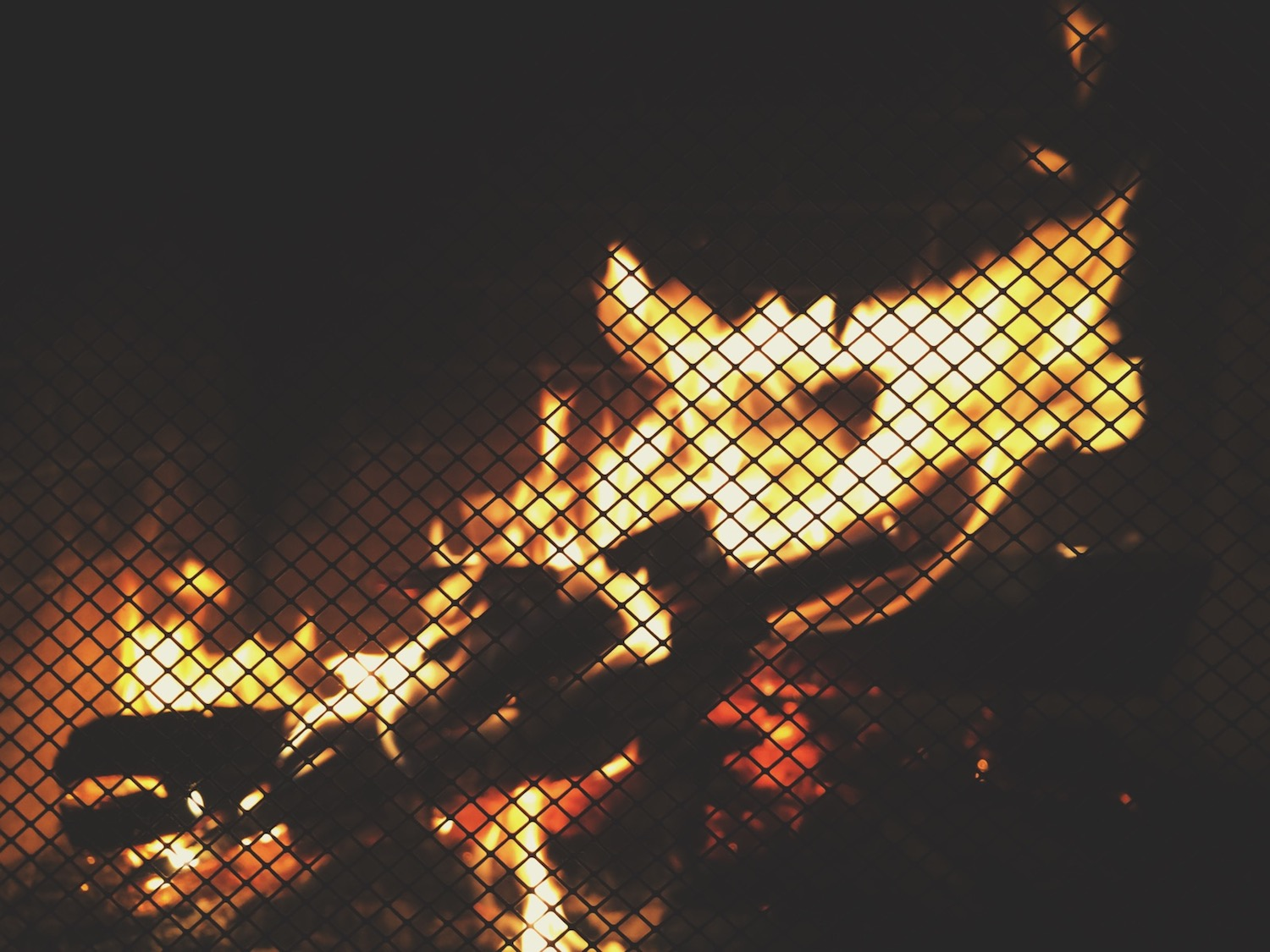 Warm nights by the fireplace at the boys' house ♥