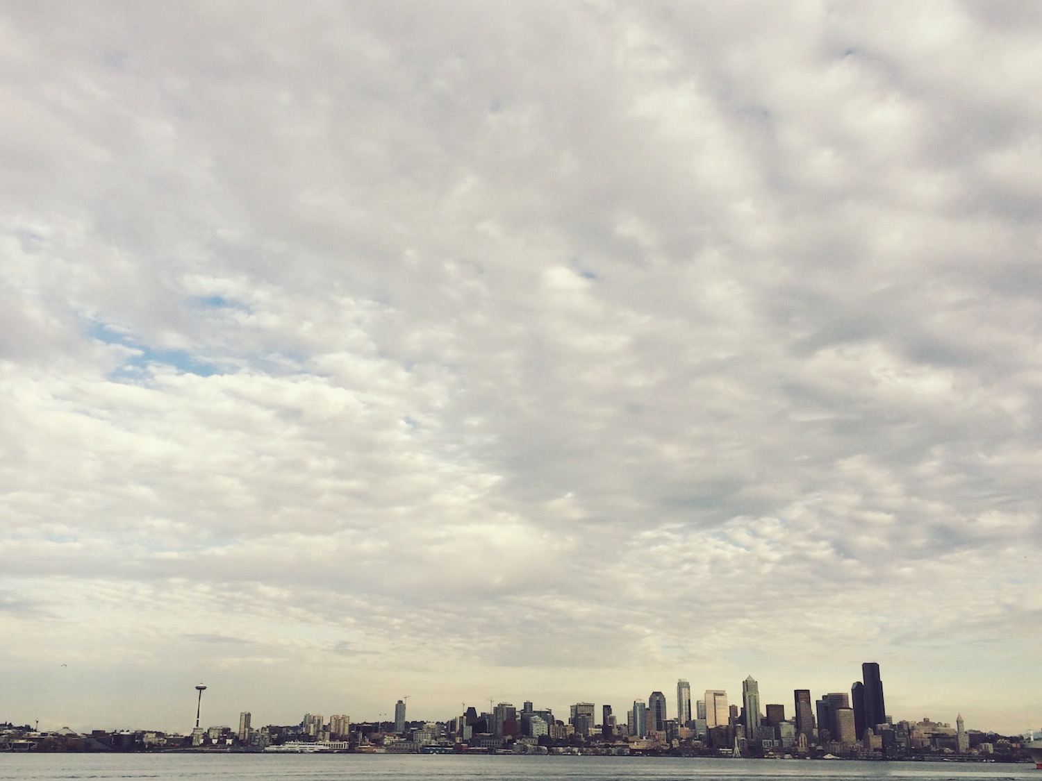View from Alki Beach in Seattle (near Brother Evan's house)