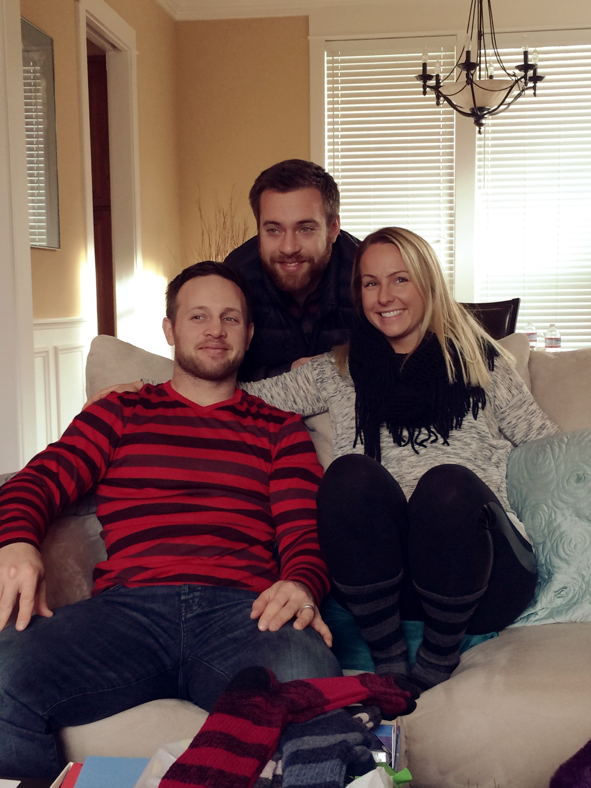 Robbie, Marsh, and Vanessa on Christmas