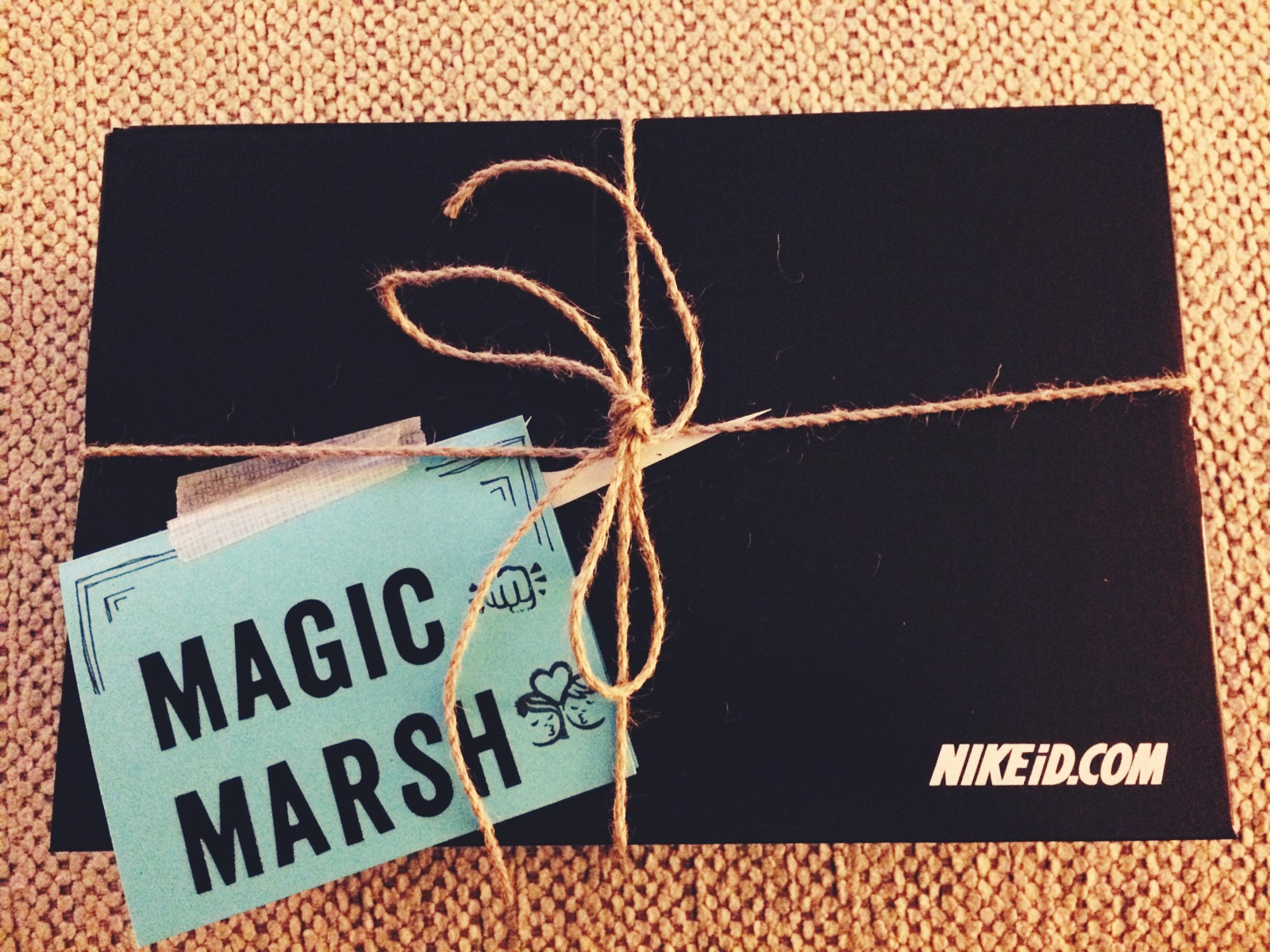 Squarespace gifted us customized Nikes for Christmas, they arrived this month, and I gave mine to Marshal.