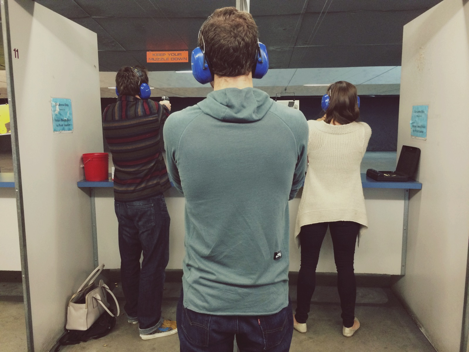 Marsh took me to the shooting range with Jordan and Annica