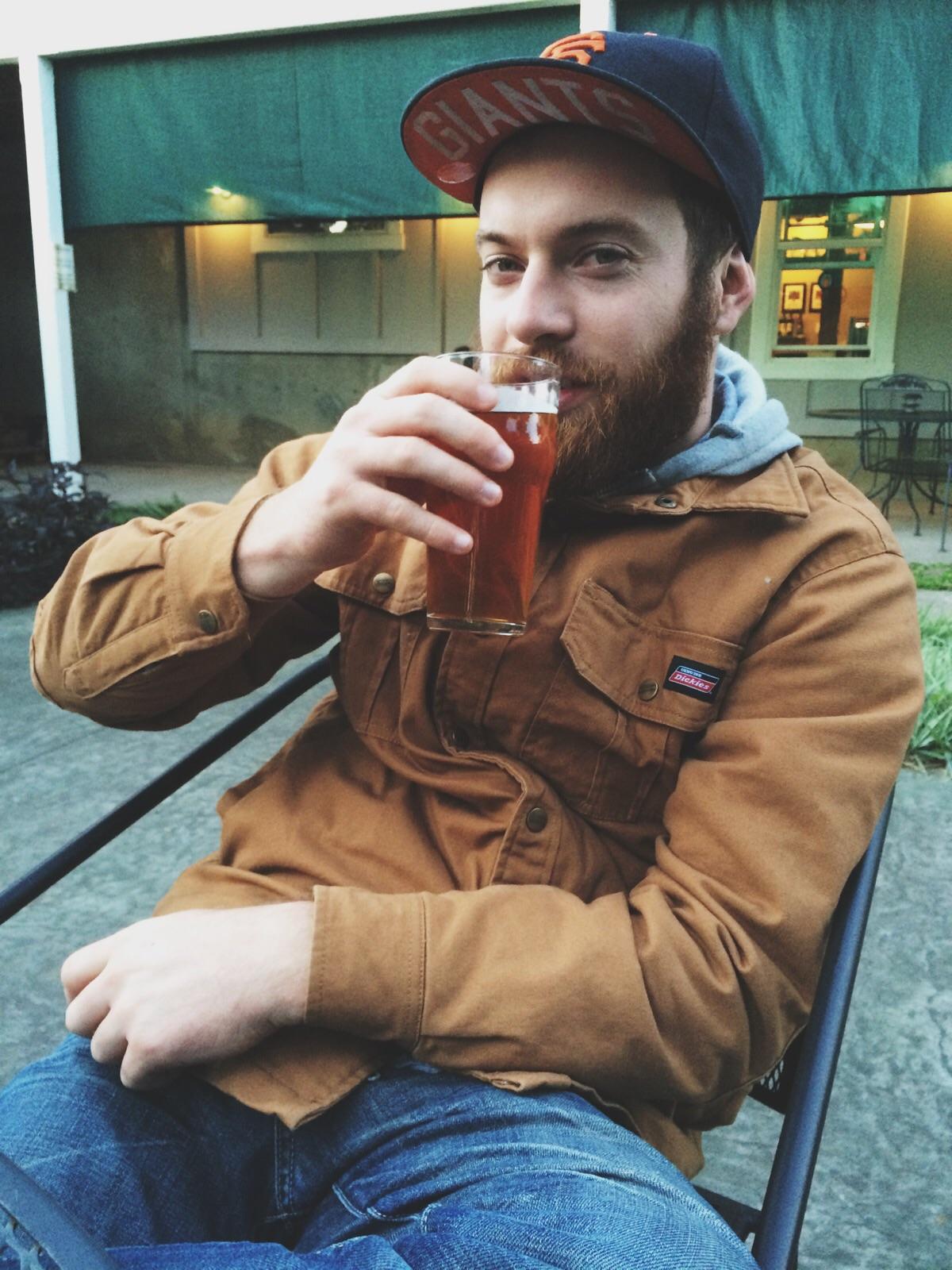 Captured this man enjoyin' a Walking Man brew ❤️