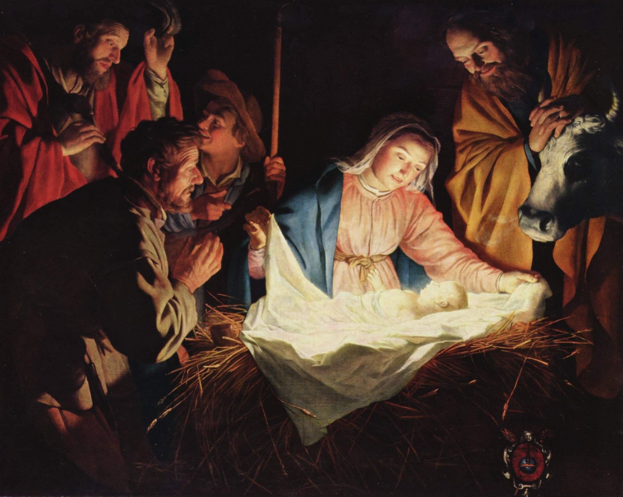 Adoration of the Sheperds by Gerard van Honthorst