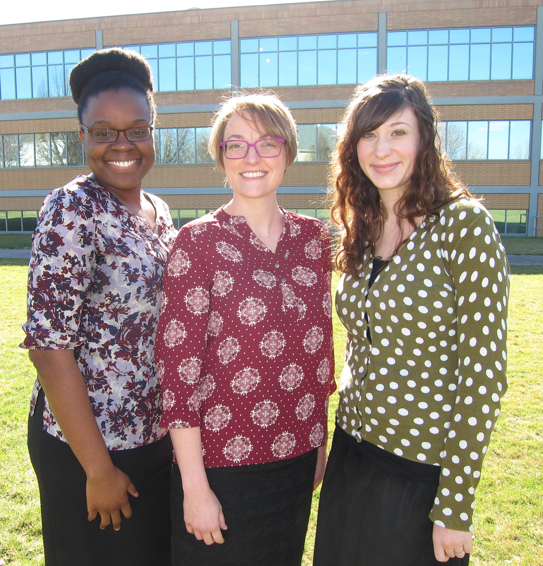 (Left to right) Alareece collie, Jenn Ogden, Jaimie Derting Photo by Kris Loewen
