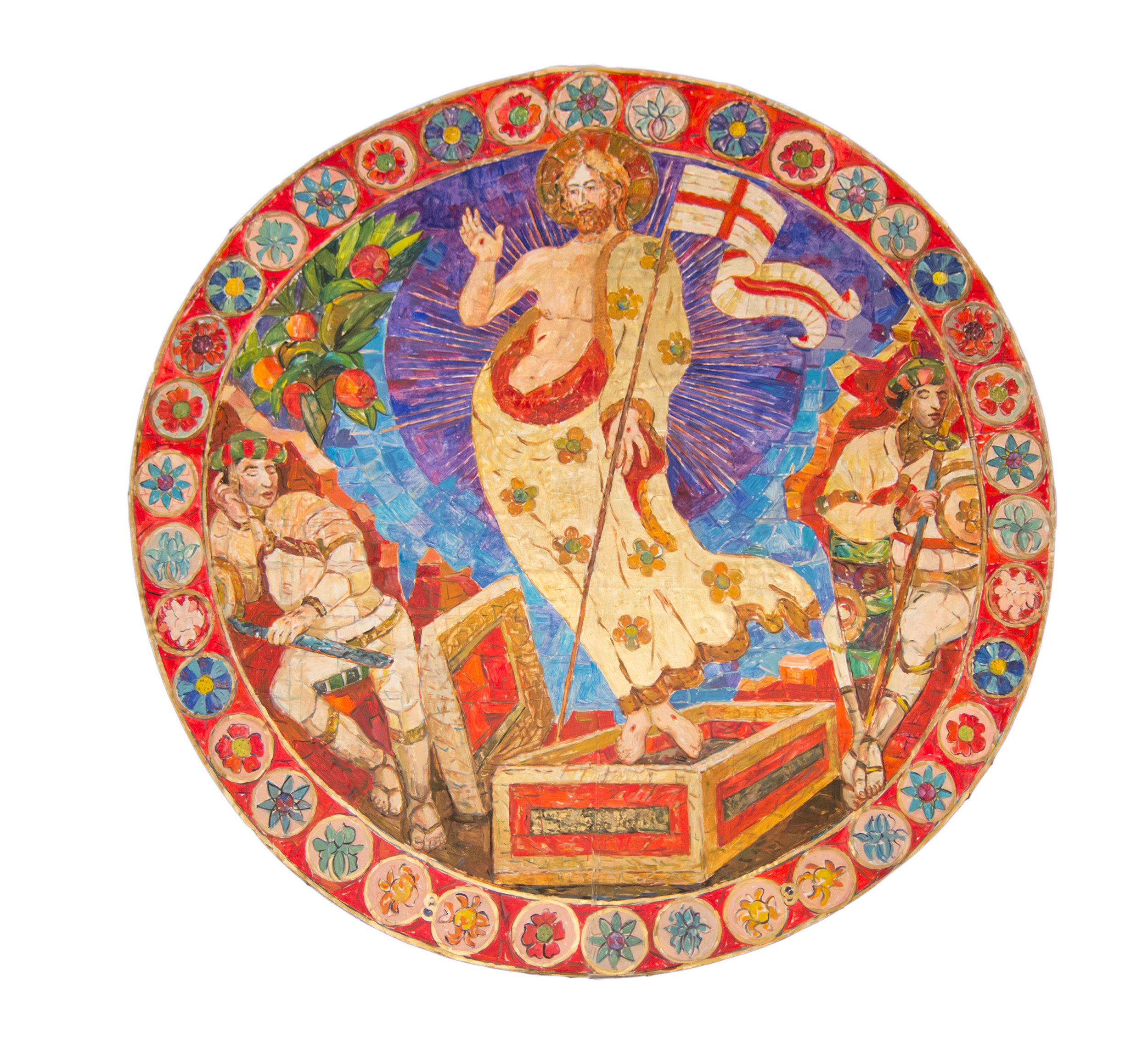 University Church artwork depicting the resurrection by Martha Mason