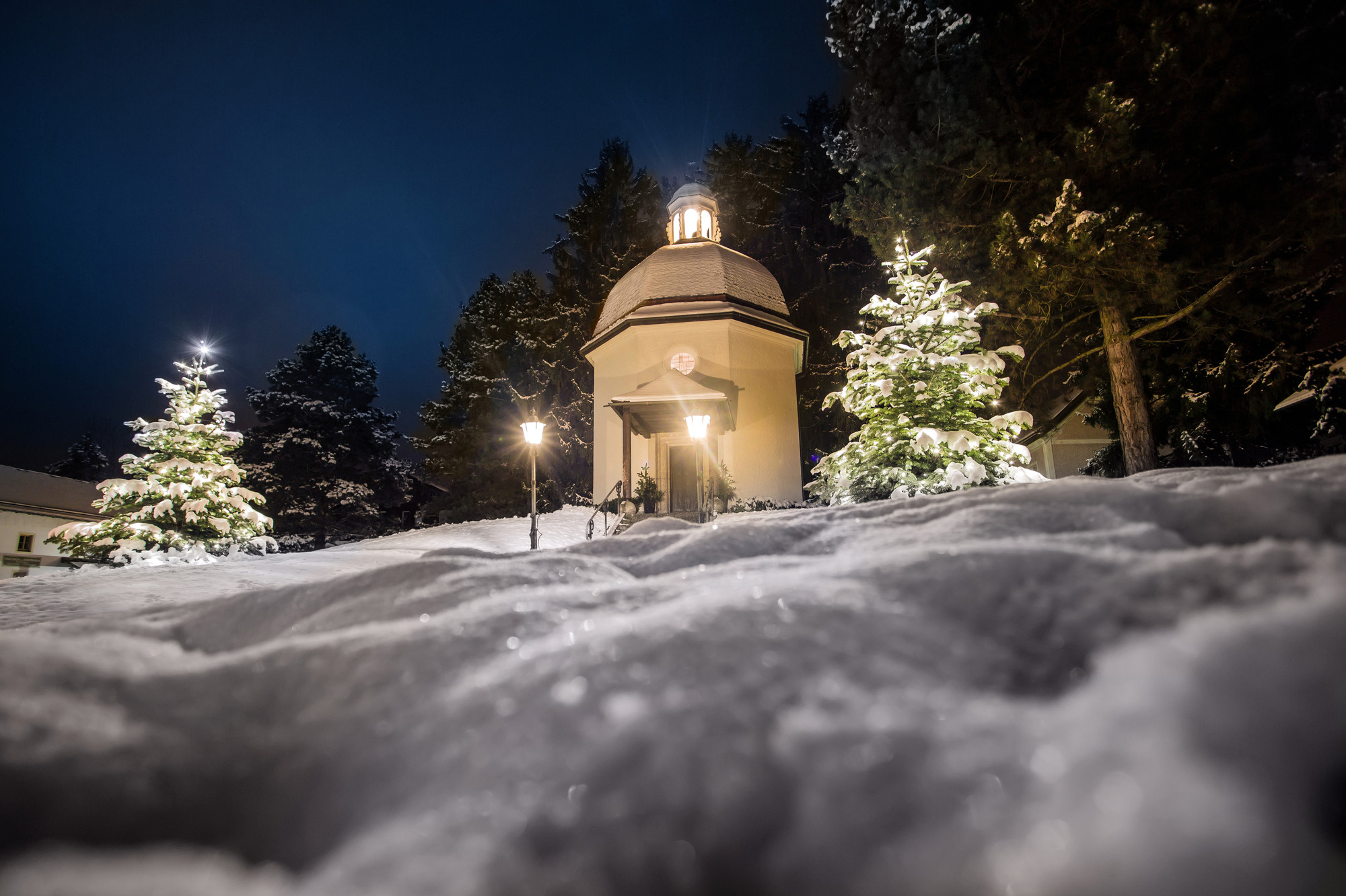 Silent-Night-Chapel (Stille-Nacht-Kapelle) located in Oberndorf bei Salzburg, Austria,where the song was first performed.